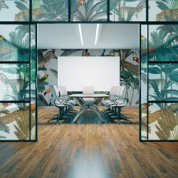 jungle chic concept glazing