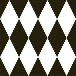 back to basics harlequin large black and white